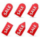 Striped Price Tags for Sale