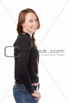 Attractive young casual woman