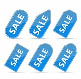 Blue Price tags