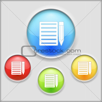 Icon of notebook with pencil