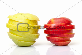 Red and Yellow Sliced Apple