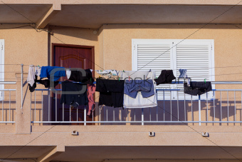 Laundry Drying in the Balcony