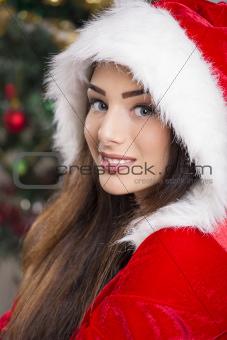 Smiling Santa girl