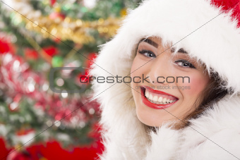 Charming smiling Santa girl