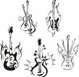 stylized guitars