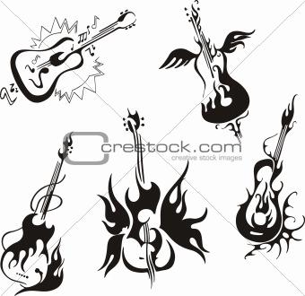 stylized guitars