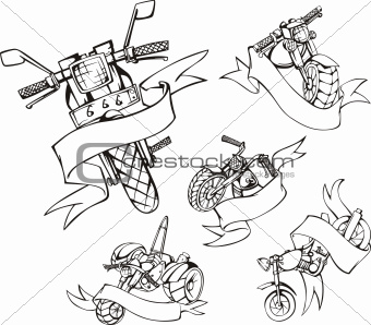 motorcycle templates with ribbons