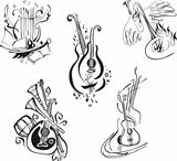 stylized musical instruments