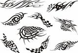Set of racing tattoos