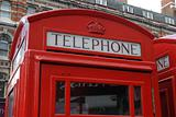 English Telephone booth detail