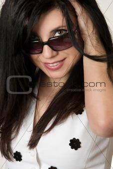 Beautiful Woman Fashion Shades