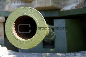 Old, German WW II cannon