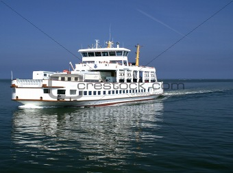 Car transport on a ferry