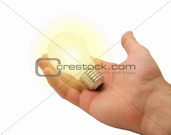 Alight Bulb in hand