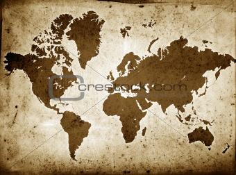Grunge Globe Sepia