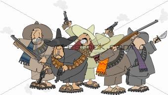 Five banditos