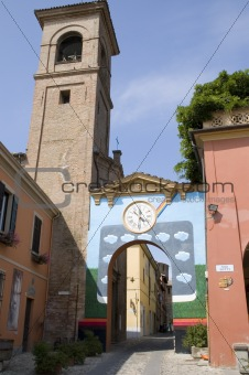 Painted Walls in Dozza, Italy