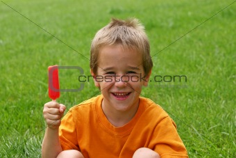 Boy with Popsicle