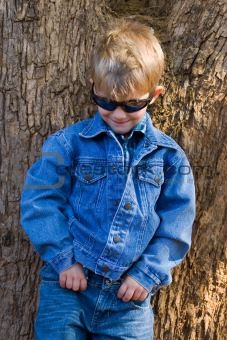 toddler in jeans