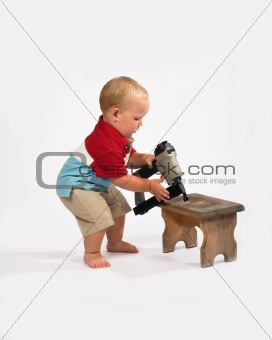 Baby woodworking