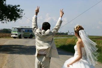 After wedding hitchhiking