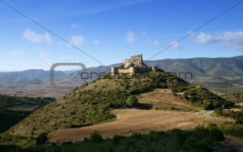 French castle Aguilar