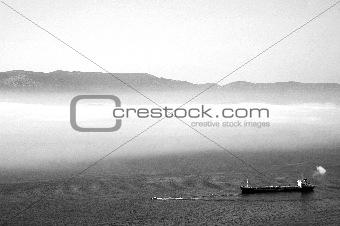Fog in Gibraltar