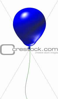 Blue 3d Balloon