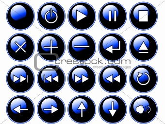 Glossy Blue Buttons