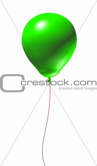 Green 3d Balloon