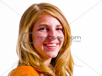 Young Woman Portrait Isolated