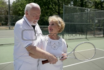 Active Seniors Play Tennis