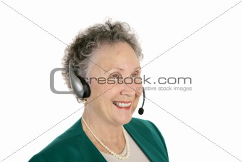 Friendly Senior Phone Rep