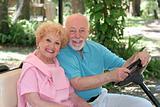 Golf Cart - Happy Seniors