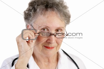 Mature Female Doctor Trustworthy