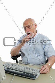 Senior Man Shocked Online