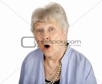Shocked Senior Lady