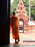 Buddhist monk resting