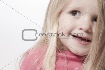 Smiling toddler portrait