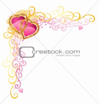 Heart of love / Vector Corner / Valentine's Day