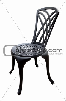 Black Iron Patio Chair