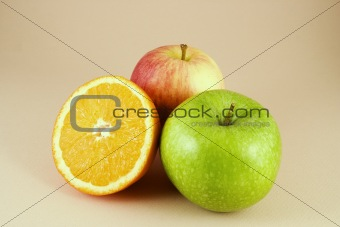 2 apples and a half orange