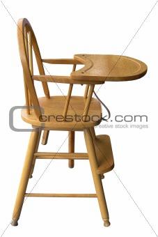 Wooden Babyu0027s Highchair