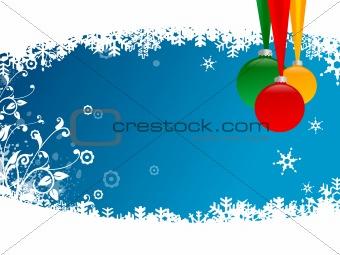 christmas balls with snow flake