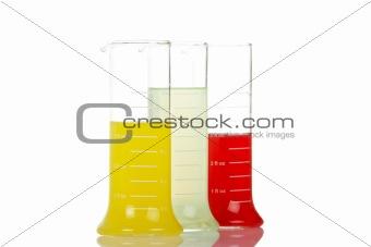 Three test flasks