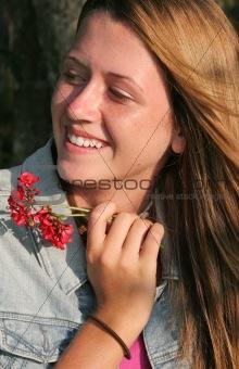 Beautiful Girl Amused
