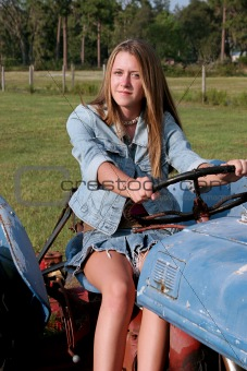Beauty Driving Tractor
