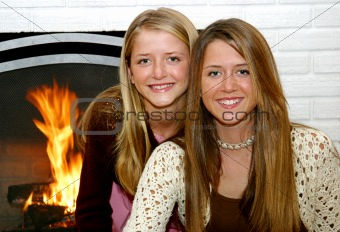 Sisters By The Fireside