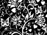 Abstract background of vector floral design