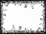 Abstract floral frame on white